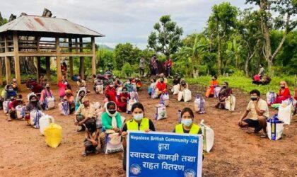 हाम्रो टिम नेपाल द्वारा रामपुरमा  खाद्यान्न तथा स्वास्थ्य सामाग्री वितरण